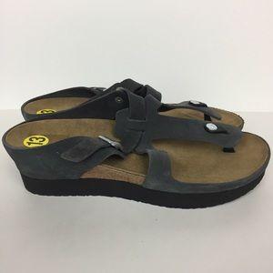 Papillio (by Birkenstock) Grey Leather Sandal (43)